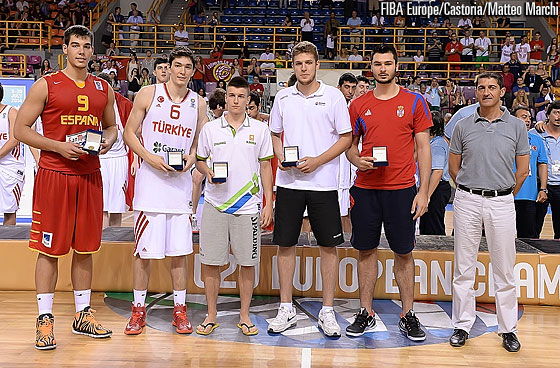 All-Tournament Team: Guillermo Hernangomez, Cedi Osman, Matic Rebec, Aleksandar Vezenkov, Nikola Jankovic